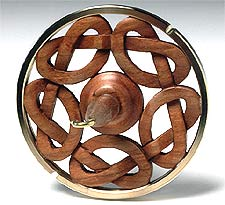 CELTIC RING I hardcarved cherry drop spindle