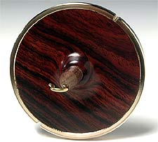 solid cocobolo ring spindle
